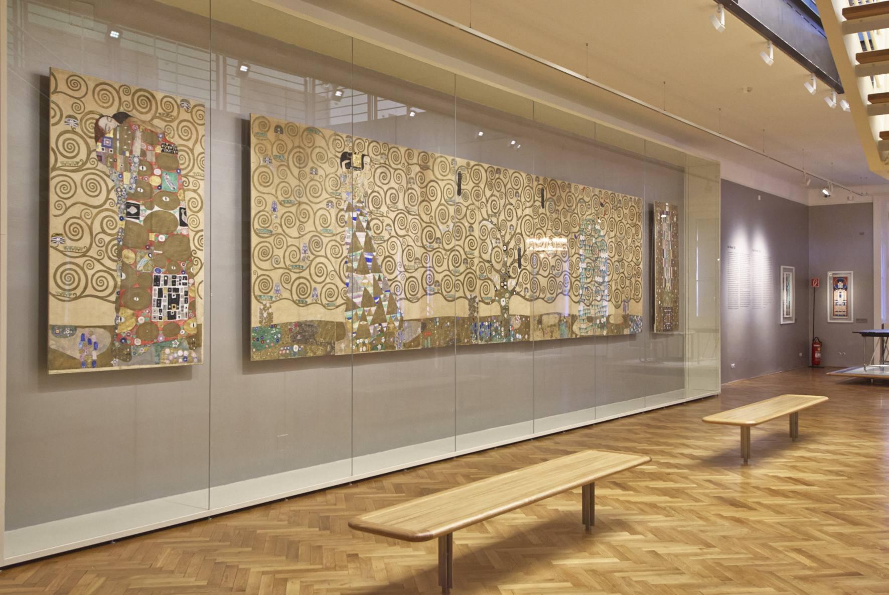 Gustav Klimt, Entwurfszeichnungen für den Fries im Speisezimmer des Palais Stoclet, Brüssel, Wien 1910/11 MAK-Schausammlung Wien 1900 © MAK/Georg Mayer