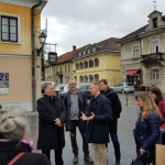 Walking along the city streets of Kamnik with prof. Jan Gehl