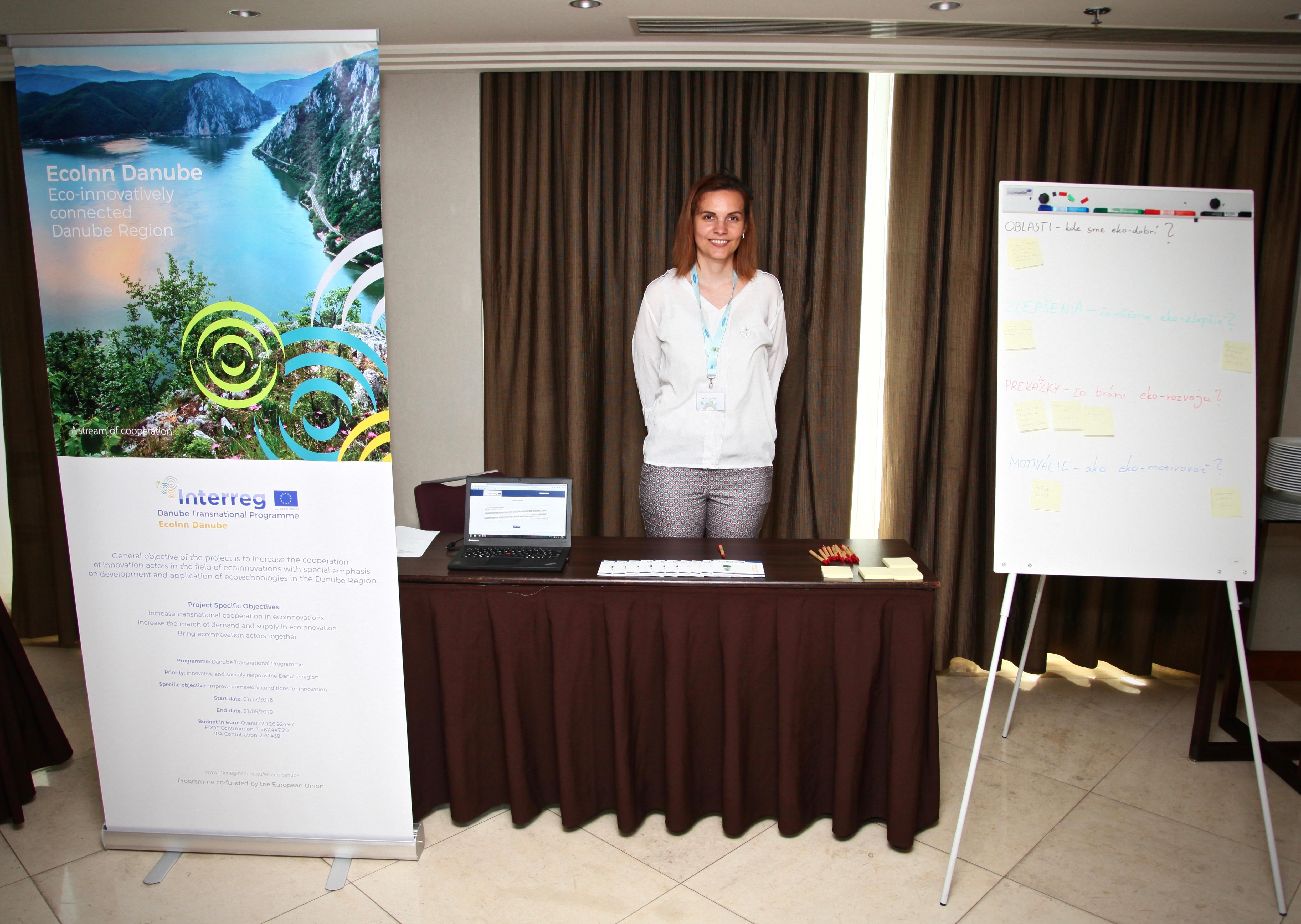 25a75abb42d CUSP presented project EcoInn Danube in their own stand